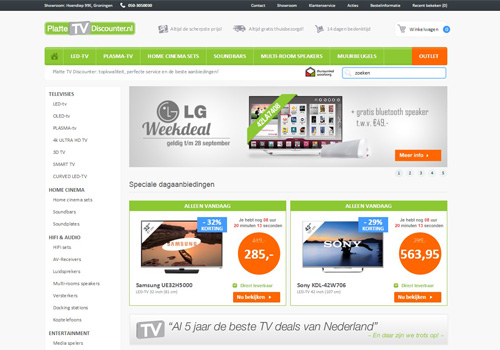 PlatteTVdiscounter.nl - altijd de beste TV deals