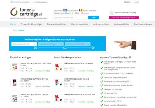 TonerenCartridge.nl - de goedkoopste cartridges & toners binnen de Benelux