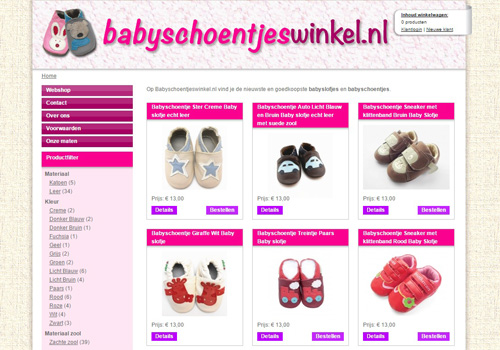 Babyschoentjeswinkel.nl - babyschoentjes en babyslofjes