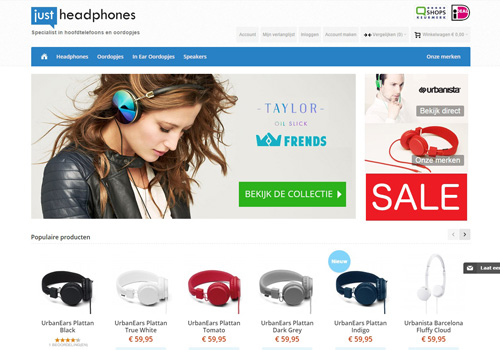 Justheadphones.nl - specialist in hoofdtelefoons en oordopjes