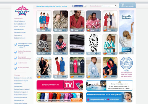 Badjasparadijs.nl - de leukste badjassen koop je online