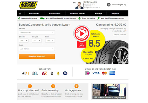 Bandenconcurrent.nl - de goedkoopste band van Nederland