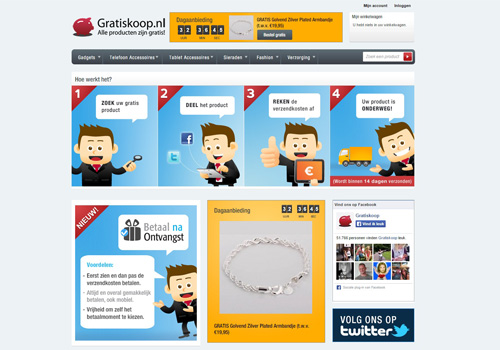Gratiskoop.nl - alle producten zijn gratis