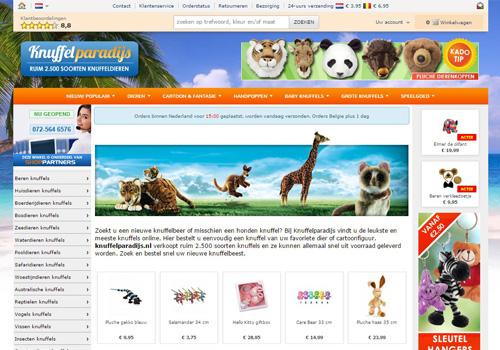 Knuffelparadijs.nl - ruim 2.500 knuffels online