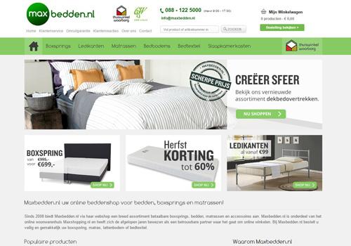 Maxbedden.nl - goed voor je nachtrust én je portemonnee