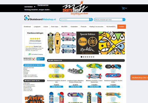 Skateboard-webshop.nl – everything you skate