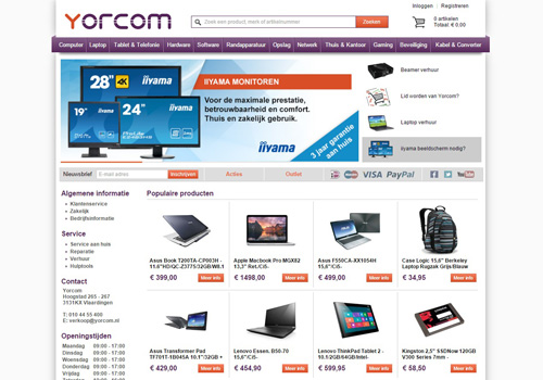 Yorcom.nl - computers, laptops, tablets en meer