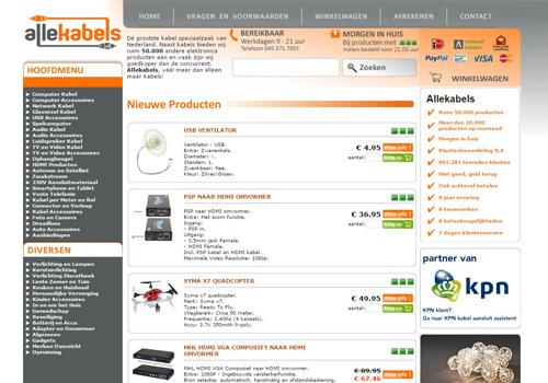 Allekabels.nl - kabel speciaalzaak met ruim 50.000 producten