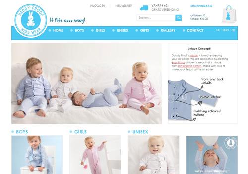 Daddyproofkidswear.nl - comfortabele en makkelijk aan te trekken babykleding