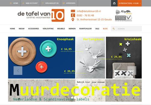 Detafelvan10.nl - online woonwinkel met Nederlandse en Scandinavische merken