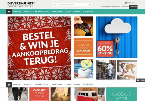 Ditverzinjeniet.nl - geniale cadeaus en gadgets