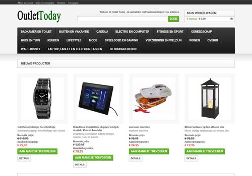 OutletToday.nl - de webshop met alleen maar topaanbiedingen