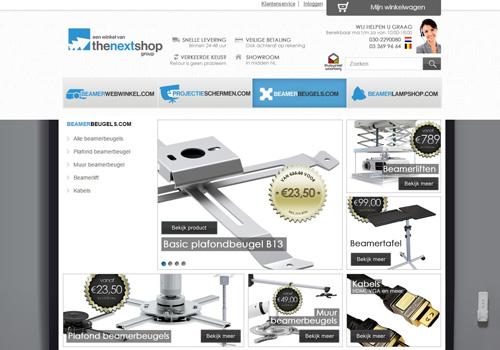 Beamerbeugels.com - de grootste beamerbeugel webwinkel van Nederland & België