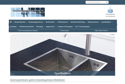 Keukenaccessoiresshop.nl - alle keukenaccessoires in één webshop