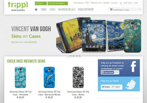 Trippl.nl - skins voor mobiele telefoons, tablets, laptops en spelcomputers