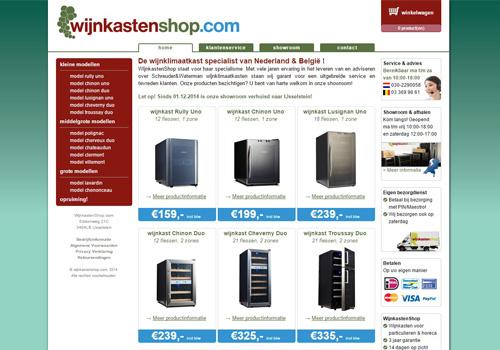 Wijnkastenshop.com - specialist in wijnklimaatkasten