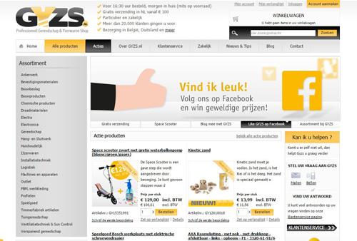 GYZS.nl - professioneel Gereedschap en Yzerwaren Shop