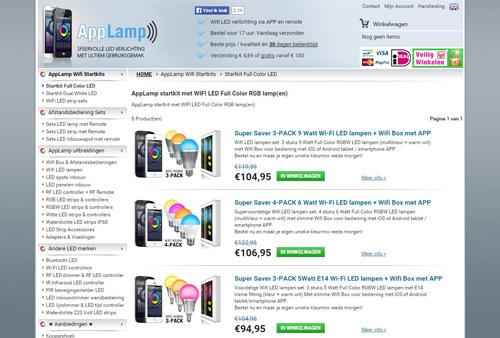 AppLamp.nl - LED verlichting bedienen met smartphone & tablet