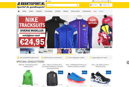 Avantisport.nl - sportief de goedkoopste