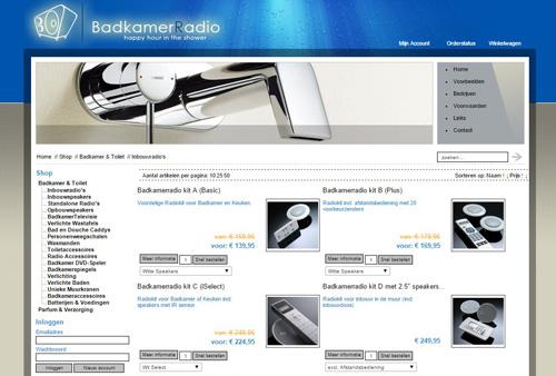 BadkamerRadio.nl - de webshop met uitsluitend waterdichte producten