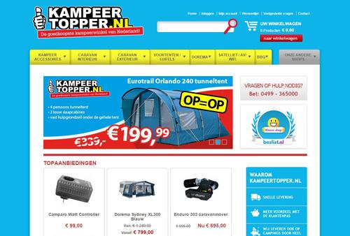 Kampeertopper.nl - de goedkoopste kampeerwinkel van Nederland