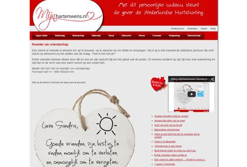 Mijnhartenwens.nl - jouw eigen tekst op een houten hart