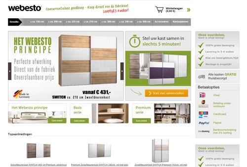 Webesto.nl - op maat gemaakte zweefdeurkasten