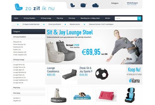 Zozitiknu.nl - de webshop voor zitzakken en lounge meubelen