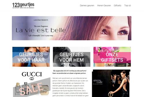 123geurtjes.nl - voor goedkope merk parfums