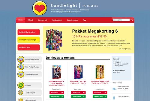 Candlelightromans.com - betaalbaare romans in boekvorm en E-book