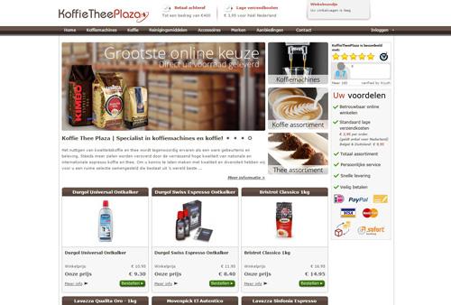 KoffieTheePlaza.nl - specialist in premium koffie en koffiemachines