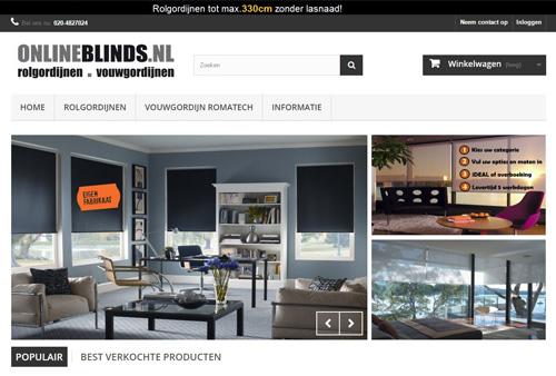 Onlineblinds.nl - luxe rolgordijnen en vouwgordijnen op maat