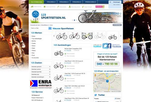 123sportfietsen.nl - ATB, racefiets, BMX, freestyle of tourfiets