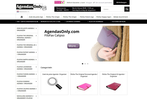 AgendasOnly.com - FiloFax agenda's en organizers
