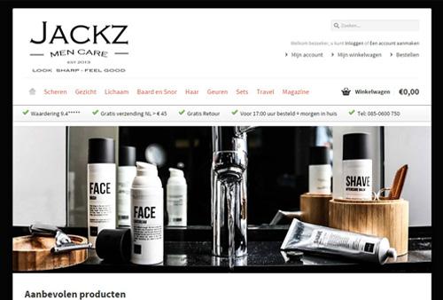 Jackz.nl - verzorgingsproducten voor echte mannen