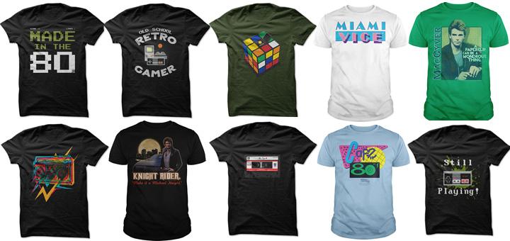 10 leuke retro 80's t-shirts van Sunfrog.com